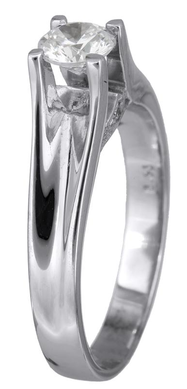 Μονόπετρο δαχτυλίδι λευκόχρυσο 18 Kαράτια με μπριγιάν D001451 D001451 f15a16775cc