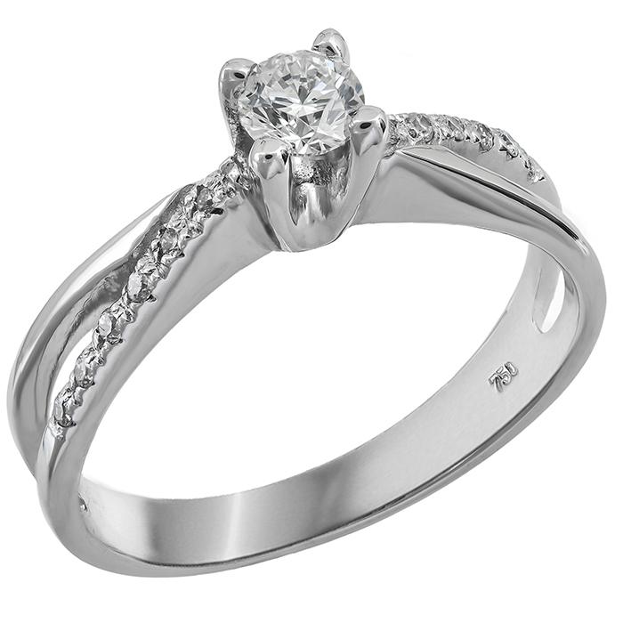 Μονόπετρο δαχτυλίδι 18Κ με διαμάντια μπριγιάν D014283 - Dimasis.gr 94a91e992bc