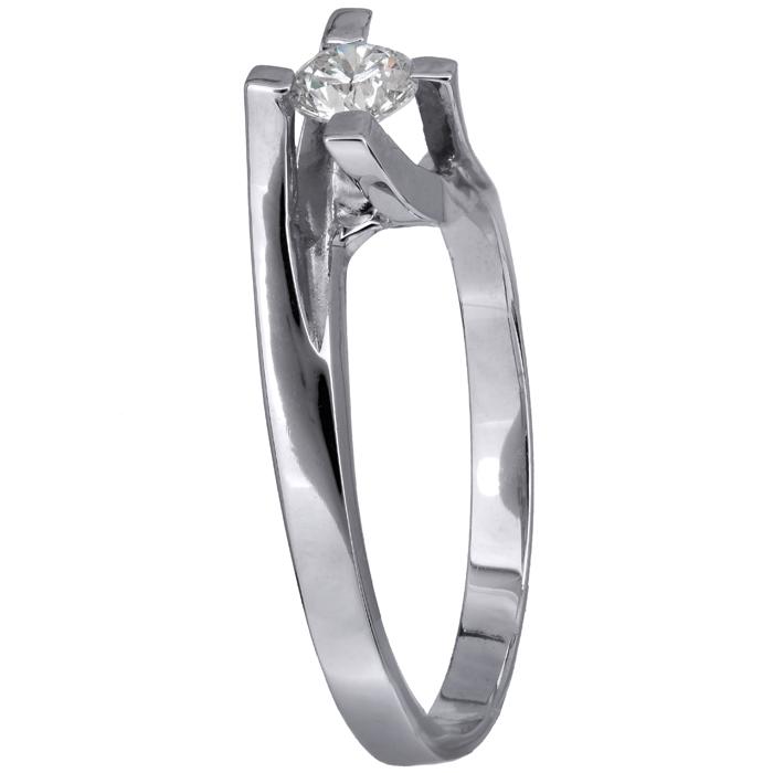 Λευκόχρυσο μονόπετρο δαχτυλίδι με διαμάντι 18 καρατίων D016462 D016462 717adf7279c