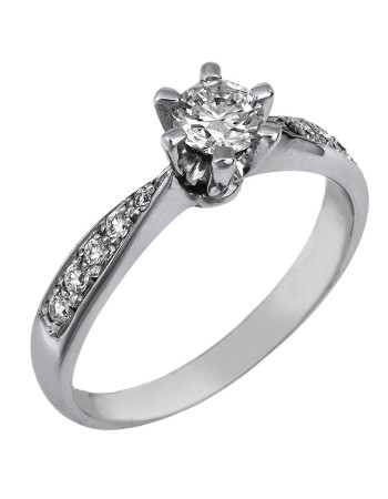 Λευκόχρυσο μονόπετρο με διαμάντια brilliant Κ18 D024405 - Dimasis.gr 5b701f8e16f