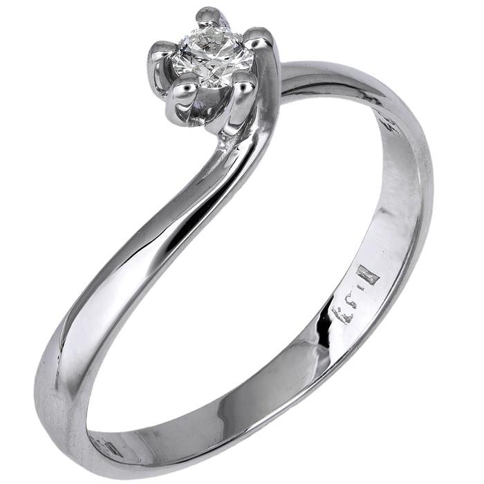 Λευκόχρυσο μονόπετρο δαχτυλίδι 18Κ με διαμάντι D016454 - Dimasis.gr b38b85e55b8
