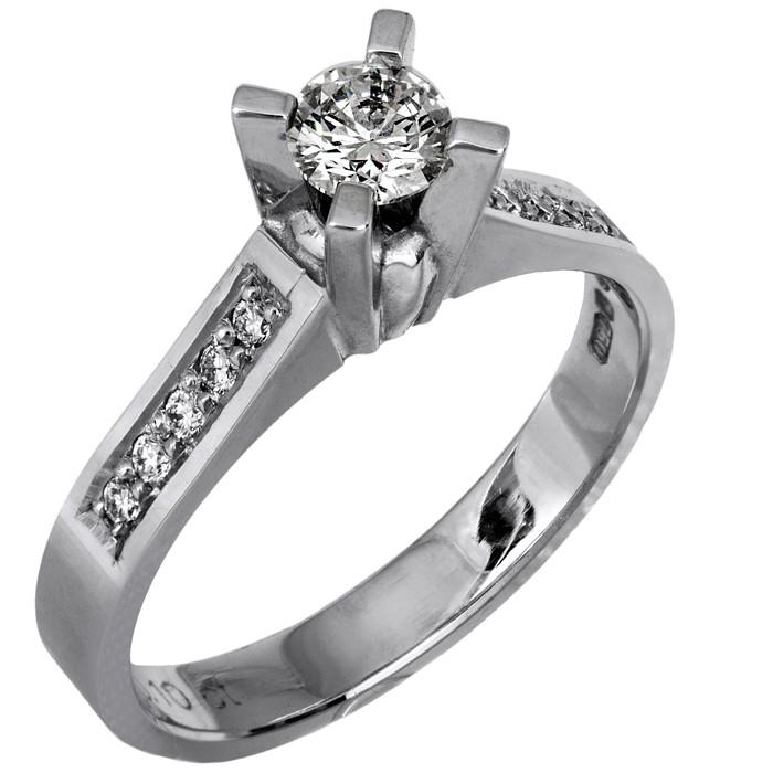 Μονόπετρο δαχτυλίδι αρραβώνων 18Κ με διαμάντια κοπής μπριγιάν ... 869cbc175f4