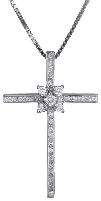 ... Λευκοχρυσος γυναικειος σταυρος με μπριγιαν Κ18 D011397. Loading. f9902213229