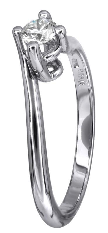 Μονόπετρο δαχτυλίδι με διαμάντι από λευκόχρυσο Κ18 D023751 - Dimasis.gr 38e27d56402