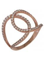 Δαχτυλίδι ροζ χρυσό 14Κ με ζιργκόν D016252 D016252