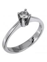 Μονόπετρο δαχτυλίδι αρραβώνα με μπριγιάν 18Κ D023725 D023725
