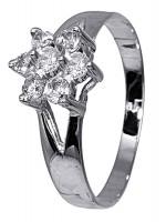Λευκόχρυσο δαχτυλίδι ροζέτα 14Κ D002539 D002539