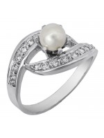 Δαχτυλίδι με μαργαριτάρι and ζιργκόν 14Κ D002115 D002115