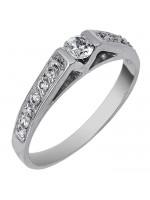 Δαχτυλίδι γάμου μονόπετρο Κ9 με πέτρα ζιργκόν D020056 D020056