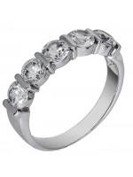 Λευκόχρυσο δαχτυλίδι σειρέ 14 καράτια D002141 D002141