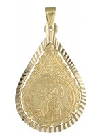 Χρυσό Κωνσταντινάτο δάκρυ 14 Καρατίων D009363 D009363