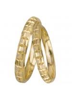 Χρυσές σκαλιστές βέρες γάμου Κ14 DBRS0921 DBRS0921