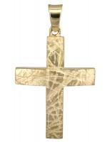 Χρυσός ανδρικός σταυρός 14K D011187 D011187
