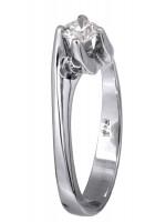 Μονόπετρο δαχτυλίδι αρραβώνα με διαμάντι 18Κ D018756 D018756