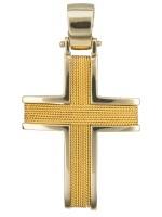 Βαπτιστικός συρματερός σταυρός 14Κ D011452 D011452
