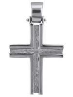 Λευκόχρυσος συρματερός σταυρός 14Κ D014362 D014362