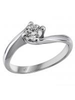 Μονόπετρο δαχτυλίδι με διαμάντι D016383 D016383