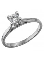 Μονόπετρο 18K λευκόχρυσο δαχτυλίδι D019603 D019603