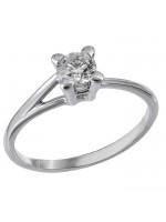 Διαμαντένιο λευκόχρυσο δαχτυλίδι 18 Καρατίων D023757 D023757