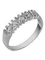 Λευκόχρυσο σειρέ δαχτυλίδι 14Κ με ζιργκόν D024453 D024453