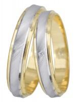 Βέρες γάμου 14Κ δίχρωμες DBRS021 DBRS021