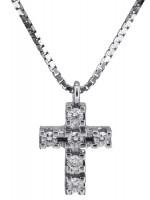 Διαμαντένιος λευκόχρυσος σταυρός 18 καρατίων D017311 D017311