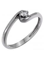 Μονόπετρο δαχτυλίδι με διαμάντι μπριγιάν D007402 D007402
