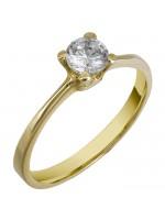 Δαχτυλίδι μονόπετρο 14Κ χρυσό D011230 D011230