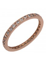 Ροζ χρυσό δαχτυλίδι 14Κ με ζιργκόν D011855 D011855