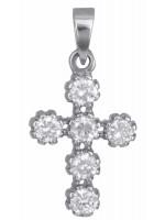 Λευκόχρυσος σταυρός με πέτρες Κ14 D002443 D002443