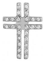 Λευκόχρυσος Σταυρός 14 Καρατίων D000453 D000453