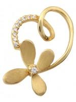 Χρυσό Κρεμαστό Κ14 Φιγούρα Λουλούδι D001459 D001459