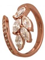 Δαχτυλίδι 14Κ ροζ Gold χρυσό με ζιργκόν D002578 D002578
