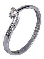 Μονόπετρο δαχτυλίδι Κ18 με διαμάντι D007404 D007404