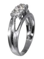 Γυναικείο δαχτυλίδι λευκόχρυσο 14K D008129 D008129