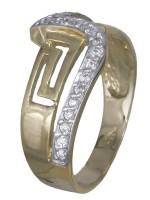 Γυναικείο δαχτυλίδι μαίανδρος 14 καρατίων με ζιργκόν D008747 D008747