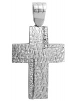 Λευκόχρυσος γυναικείος σταυρός Κ14 D011127 D011127