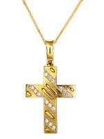 Γυναικείος χρυσός σταυρός 14κ D011188C D011188C