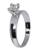 Κλασικό μονόπετρο δαχτυλίδι 18Κ με διαμάντι D011565 D011565