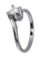 Μονόπετρο διαμαντένιο δαχτυλίδι 18Κ D011578 D011578