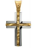 Δίχρωμος αντρικός σταυρός Κ14 D012293 D012293