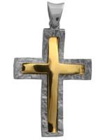 Ανδρικός σταυρός διπλής όψης Κ14 D012297 D012297