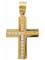 Γυναικείος σταυρός διπλής όψεως 9Κ D012694 D012694
