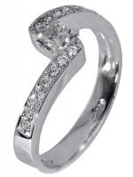 Εντυπωσιακό μονόπετρο δαχτυλίδι Κ9 με ζιργκόν D012896 D012896