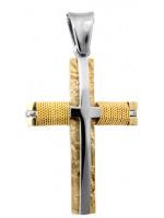 Δίχρωμος συρματερός σταυρός Κ14 D012981 D012981