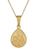 Φυλαχτό κωνσταντινάτο χρυσό 14Κ D002374 D002374