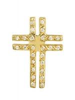 Χρυσός σταυρός με ζιργκόν 14Κ D015191 D015191