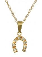 Χρυσό κολιέ με πετράτο πέταλο Κ14 D016208C D016208C
