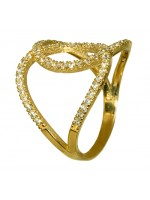 Δαχτυλίδι χρυσό 14Κ με ζιργκόν D016250 D016250