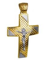 Δίχρωμος βαπτιστικός σταυρός Κ14 D016264 D016264
